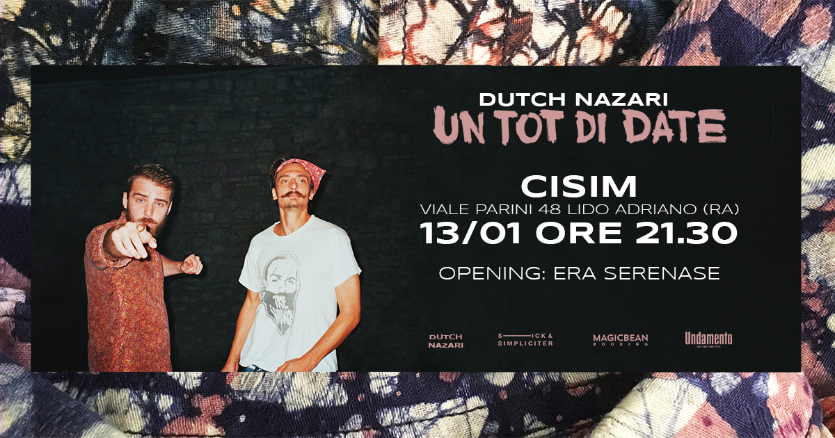 Sabato 13 gennaio | RAP CISIM: Dutch Nazari / Era Serenase / Polly + Alfre D'